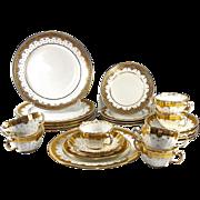 SALE Tiffany & Co Set 24pc + Minton Luncheon, Dessert,, Cream Soup or Boullion Set. Encrusted