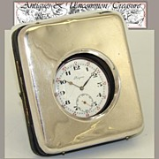 SOLD Fine Antique English Sterling Silver Pocket Watch Display Box