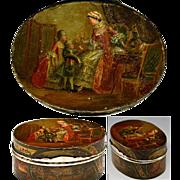 SALE RARE Antique Vernis Martin 1700s Table Snuff, Etui - Marie-Antoinette & Versailles ...