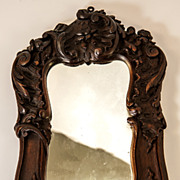 SALE Antique Black Forest or French Hand Carved Wood Frame for Mirror or Photos