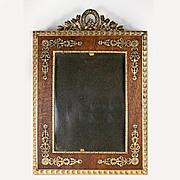 SALE Antique French Empire Frame, Dore Bronze and Wood Mat, Appliqué