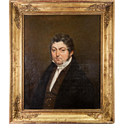 "SALE Superb c.1800 Napoleon French Empire Portrait in Oil, a Gentleman 19.5"" x ..."