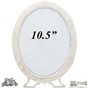 """SALE Antique American Sterling Silver 10.5"""" Oval Picture Frame, Mauser Mfg. Co., New York"""