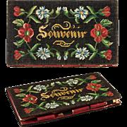 SALE Antique French Petitpoint Tapestry Necessaire, Carnet du Bal, Souvenir, 1838 Calendar