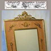 SALE Rare 19c French Empire Dore Bronze Picture Frame - Large, with Classical Figures!