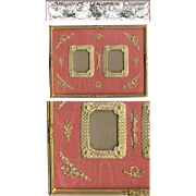 SALE HUGE Antique French Empire (Nap III) Dore Bronze Double Frame, Ormolu