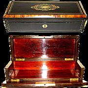 SALE Elegant Antique French Napoleon III Glove or Document Box, Casket