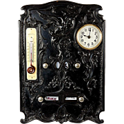 SALE Antique French Perpetual Calendar, Clock, Gutta Percha - Napoleon III RARE Treasure!