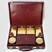 SOLD Vintage French Dupont made vanity for BORGIA, Paris, c.1950-60, Pristine S D Monogram