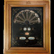 SALE Antique French Napoleon III Perpetual Calendar in Frame, Ephemera, Card - Working Order