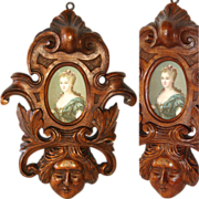 """SALE Antique French Black Forest or Brittany Style Carved Walnut 11"""" Picture Frame, Ornat"""