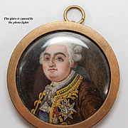SOLD Antique Hand Painted Enamel Painting in Miniature on Porcelain Plaque, French Louis XVI