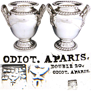 SALE Spectacular Find: Set of Antique French ODIOT SP Wine Coolers - a PAIR