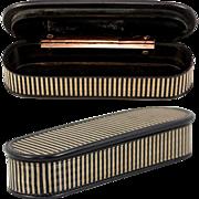 Superb c.1780s French Snuff or Patch Box, Vernis Martin & 18k Gold, Pristine