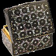 SALE Antique 1700s Boite a' Mouche, Tortoise Shell & 12K Gold Box