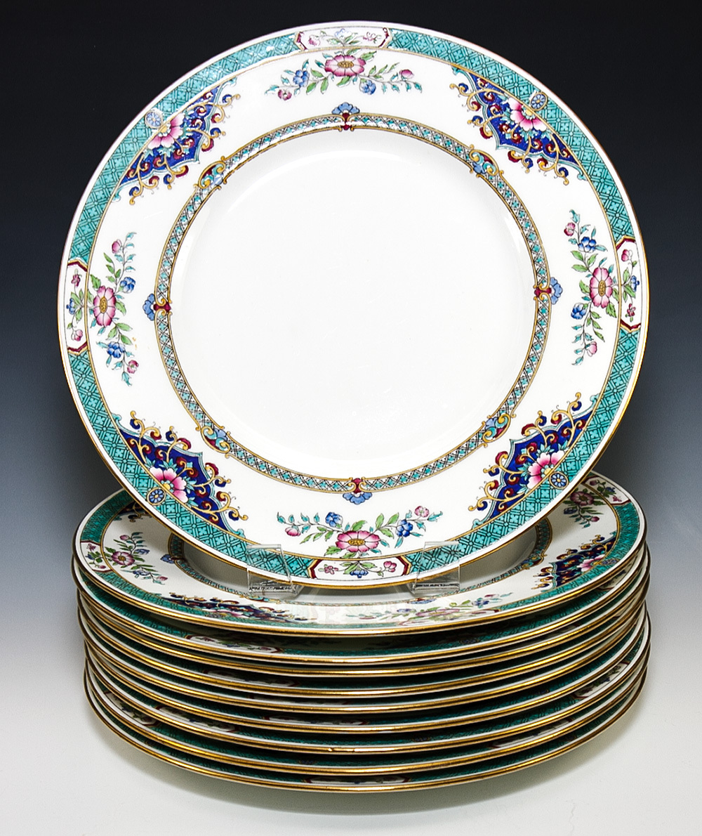 Beautiful Nearly Antique c. 1917 10pc MINTON Imari Dinner Plates 10.25\  Diam.  sc 1 st  eBay & Beautiful Nearly Antique c. 1917 10pc MINTON Imari Dinner Plates ...