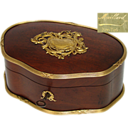 SOLD Antique French Empire Style Chocolatier or Confectioner's Box, Casket: Maillard's of