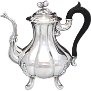 SALE Antique Belle Epoch Era French Sterling Silver Full Sized 40oz Coffee or Tea Pot ...