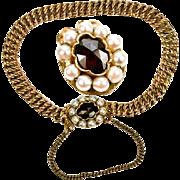 "SALE Vintage to Antique Child's 14K Gold 5.5"" Bracelet, Pearls and Facet-cut ..."