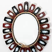 SOLD Antique Jewel of a Miniature Portrait Frame Fitted with a Halo of Cameos - Fabulous!