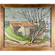 SALE Antique Oil Painting, En Provence, France, a Landscape, Impressionist, Signed Paul DUPRE'