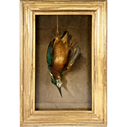 Hunt Theme Still Life, c.1831 Oil Painting, French Artist Signed: 1831, H.Dumont, Trompe ...