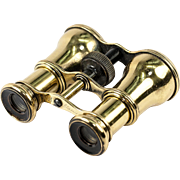 SOLD Antique French Opera Glasses, Brass Housing and Clear Crisp Lenses, Field Binoculars