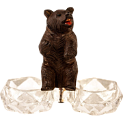 SOLD Antique Black Forest Bear is a Double Open Salt (Pepper) for Table, c. 1880 ...