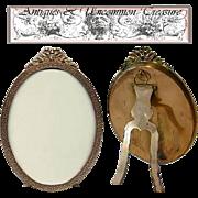 SALE Fabulous LARGE Antique Stern Bros, NY Gilt Ormolu Oval Frame
