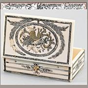 SOLD RARE Antique 1700s Ivory Pique Etui, Snuff Box - Marie-Antoinette Era Treasure - 1750-179
