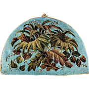 SOLD Fine Victorian Beadwork Tea Cosy, Cozy, Teal Blue Beaded Needlework