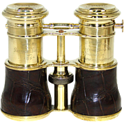 "SOLD Rare Antique English Triple Optic Binoculars, Opera Glasses: 1864 Trophy, ""Theatre,"
