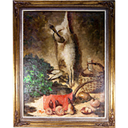 SALE c.1940-50 Oil Painting on Canvas, Fruits of the Hunt Still Life, J ...