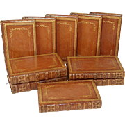 SOLD Rare Set of TEN 1813 Leather Bound Volumes of William Shakespeare Works, J. Nichols & Son