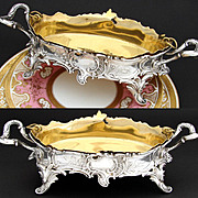 SOLD Ornate Antique Continental .800 (nearly sterling) Silver Centerpiece, Bonbon or Jardinier