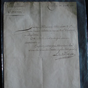 SALE Original letter from Duc de Rovigo General of Napoleon Bonaparte.