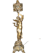SALE French Art Nouveau Angel Of Peace Lamp