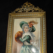 SALE Important French Miniature Portrait Madame Mole-Raymond