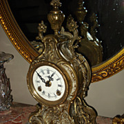 SALE Vintage French Bronze Cartel Clock