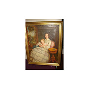 SALE Important English Painting Mother and child
