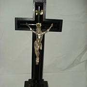 SALE French Napoleonic Silver Plated  Alter Cross
