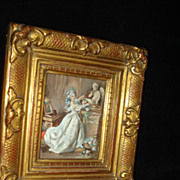 SALE Classical European Genre Miniature Painting