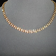 SALE Vintage Attwood and Sawyer Crystal  Necklace