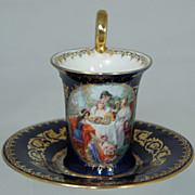 SALE Royal Vienna Demi Scene Cup and Saucer