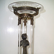 SALE Rare French Crystal Figural Center Piece