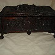 SALE Black Forest Large Hand Carved Box