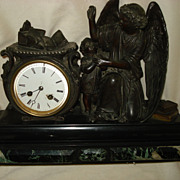 SALE PENDING French Bronze Angel Clock