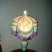 SALE Oriental Celadon Geisha Table Lamp
