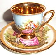 Dresden Vintage Demi tasse Cup and Saucer
