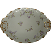 SALE Antique Haviland Limoges Tarascon Violet Platter